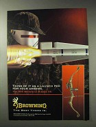 1992 Browning Mirage XE Bow Ad - Launch Pad for Arrows