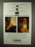 1992 Eveready Lighting Products Ad - Blown Tires