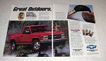 1992 Chevy 1500 Pickup Truck Ad - Great Outdoors