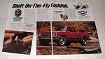 1992 Chevy S-10 Maxi-Cab Tahoe 4x4 Truck Ad - Fishing