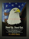 1991 U.S. Armed Forces Ad - Stand Up, Stand Out