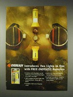 1991 Eveready Flashlight Ad - Two Lights in One