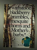 1991 Columbia Sharptail Shirt Ad - Blackberry Brambles