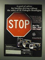 1991 GE Halogen Headlights Ad - A Word of Advice