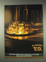 1991 Seagram's V.O. Whisky Ad - Gold on the Way