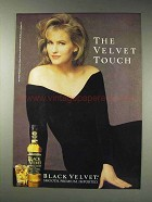 1991 Black Velvet Whisky Ad - The Velvet Touch