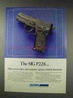 1991 Sigarms Sig P228 Pistol Ad - High Contrast Sights