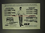 1991 SKB Shotgun Ad - Model 885, 605, 505 DLX, 1900
