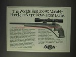 1991 Burris Scopes Ad - The World First 3x-9x Variable