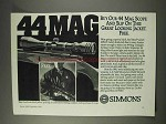 1991 Simmons 44 Mag Scope Ad - Slip on this Jacket