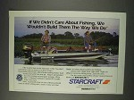 1991 Starcraft Starcaster 1700 Boat Ad - Fishing