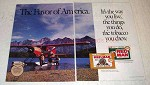 1991 Red Man Tobacco Ad - The Flavor of America