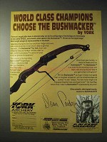 1990 York Archery Bushwacker Bow Ad - World Class