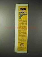 1990 Glock Pistol Ad - Aiming for the 21st Century