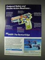 1990 Sigarms Sig Sauer Pistol Ad - P 230, P 225, P 220