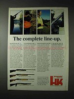 1990 Benelli Shotgun Ad - M1 Super 90; Black Eagle