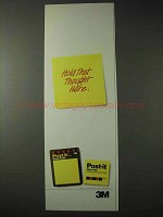 1990 3M Post-it Notes Ad - Hold That Thought Here