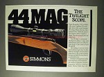 1990 Simmons 44 Mag Scope Ad - The Twilight Scope