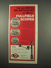 1975 Burris Scopes Ad - See the Big Advantages