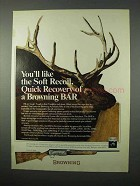 1975 Browning BAR Rifle Ad - The Soft Recoil