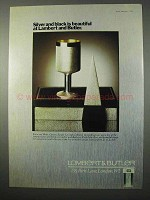 1975 Lambert & Butler Cigarettes Ad - Silver and Black