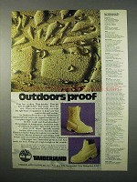 1975 Timberland Boots Ad - Outdoors Proof