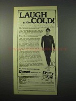 1975 Damart Underwear Ad - Laugh at the Cold