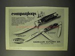 1975 Camillus 1012 Great Smoky & 78 Wrangler Knife Ad
