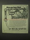 1975 Buck Knives Ad - Get a Friend Forever