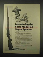 1974 Sako Model 74 Super Sporter Ad