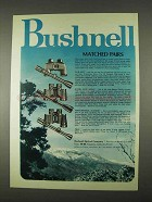 1974 Bushnell Optics Ad - Matched Pairs