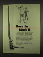 1974 Beretta Mark II Shotgun Ad