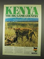 1974 Kenya Tourism Ad - The Big Game Country