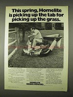 1974 Homelite Riding Mower Ad - Pickup up the Grass