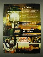 1974 Coleman Lantern Ad - Ask Someone Who Has One