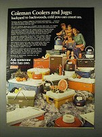 1974 Coleman Coolers and Jugs Ad - Backyard
