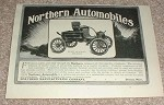 1903 Northern Automobiles Car Ad, NICE!!!
