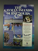 1996 Cayman Islands Tourism Ad - Ours