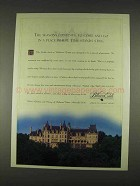 1996 Biltmore Estate North Carolina Ad - Seasons