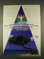 1996 Aruba Tourism Ad - Trees Bend Over Backwards