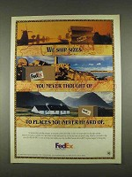 1996 Federal Express Ad - We Ship Sizes