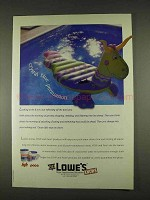 1996 Lowe's HTH and Pace Pool Products Ad