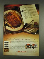 1996 Weber and Sunset Grills Ad - You'll Flip