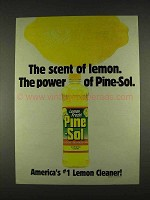 1996 Pine-Sol Lemon Fresh Cleaner Ad - The Scent Of