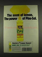 1996 Pine-Sol Lemon Fresh Cleaner Ad - The Power