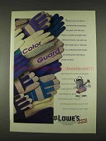 1996 Lowe's Wells Lamont Work Gloves Ad