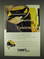 1996 Lowe's Yard-Man Lawn Mower Ad - Contemplations