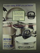 1996 Revere Solutions Cookware Ad