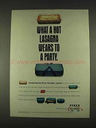 1996 Pyrex Portables System Ad - Hot Lasagna Wears