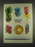 1996 Reynolds Crystal Color Plastic Wrap Ad